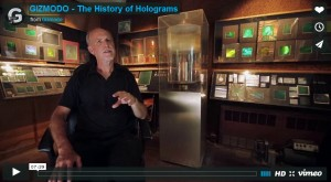 Gizmodo history of holography