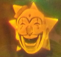 clown face in star