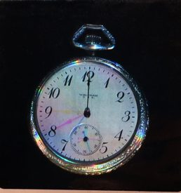pocket watch with moving hands